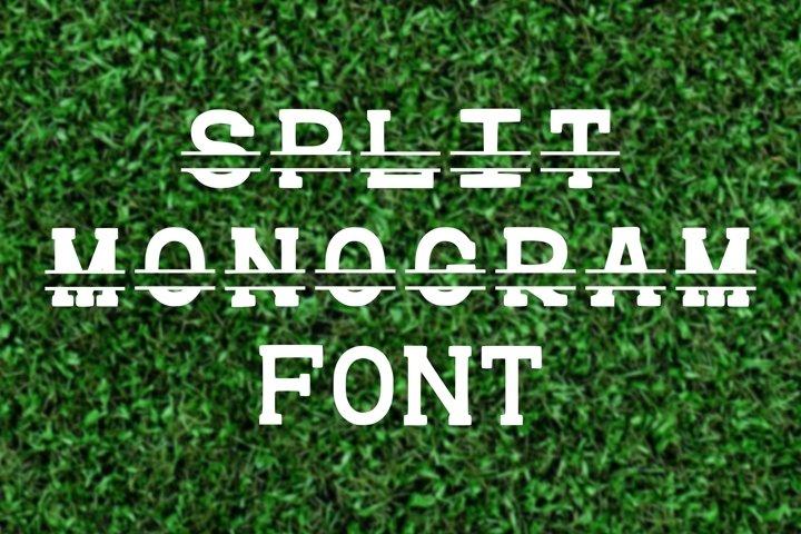 Split Monogram Font Initial Letter Personalize TTF OTF WOFF