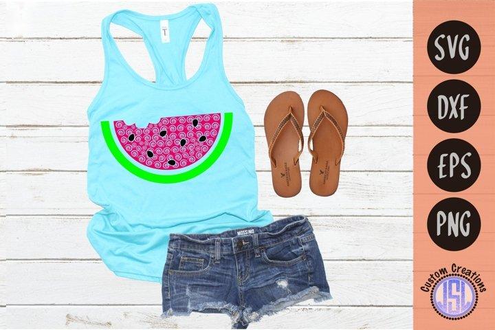 Watermelon Swirls | Summer SVG Cut File | SVG EPS DXF PNG