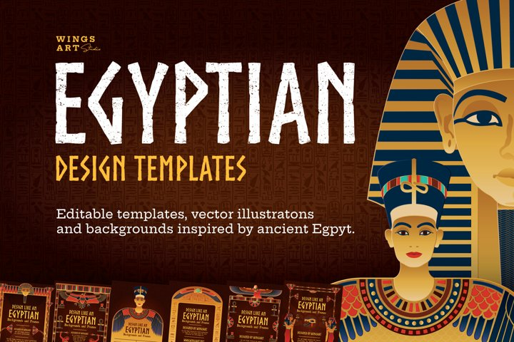 Ancient Egypt Illustrations and Design Templates