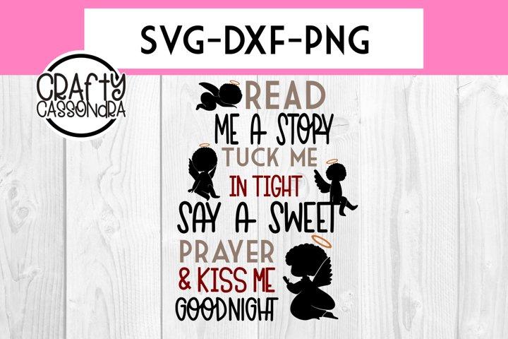 Read me a story - Angels - Bedroom decor - Kids room svg