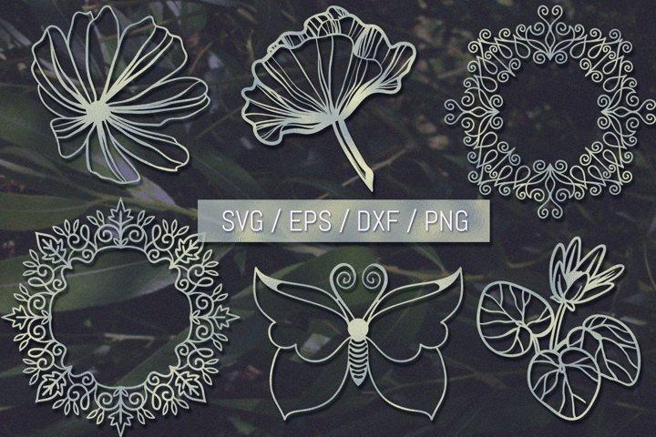 Papercut SVG Nature Bundle - 41 files