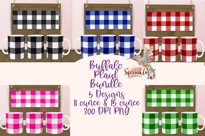 Buffalo Plaid Sublimation Bundle - Sublimation Mug Designs