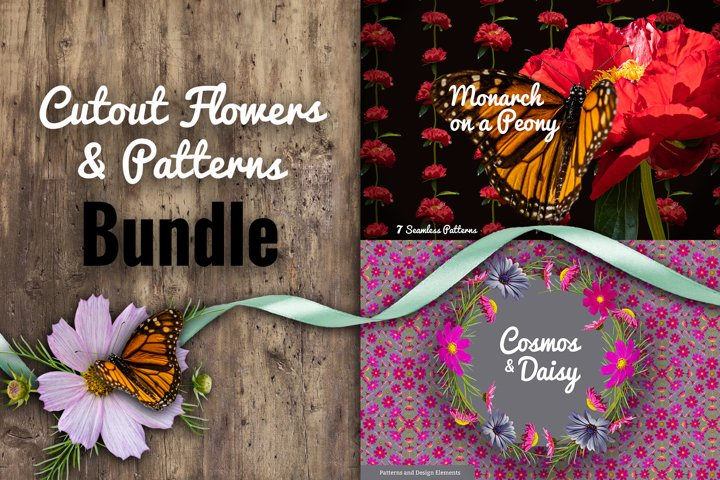 FLORAL BUNDLE - Cutout Flowers and Patterns