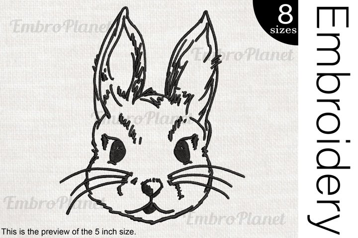 Bunny - Embroidery Files - 1471e