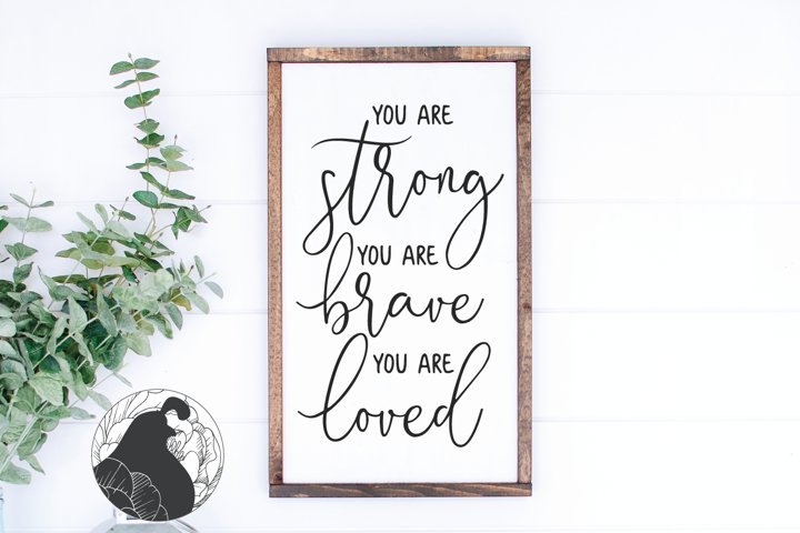 You Are Stong SVG, Kids Wall Art SVG