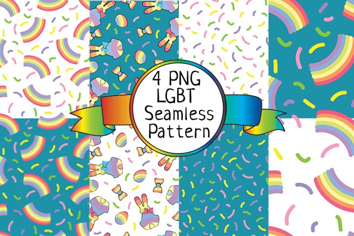 LGBT Seamless Pattern, Digital Paper, LGBT design