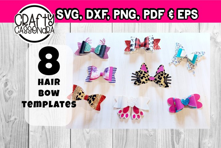 Hair bow template bundle #1 - diy hair bows - svg for bows - Free Design of The Week Font