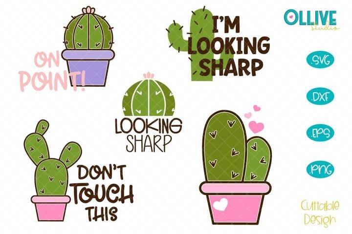 Cactus SVG Bundle, Cactus Quotes