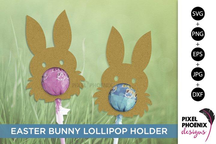 Easter Bunny Lollipop Holder SVG