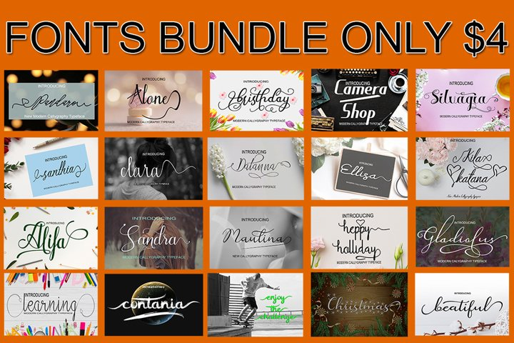 Bundle Font Package Only $4