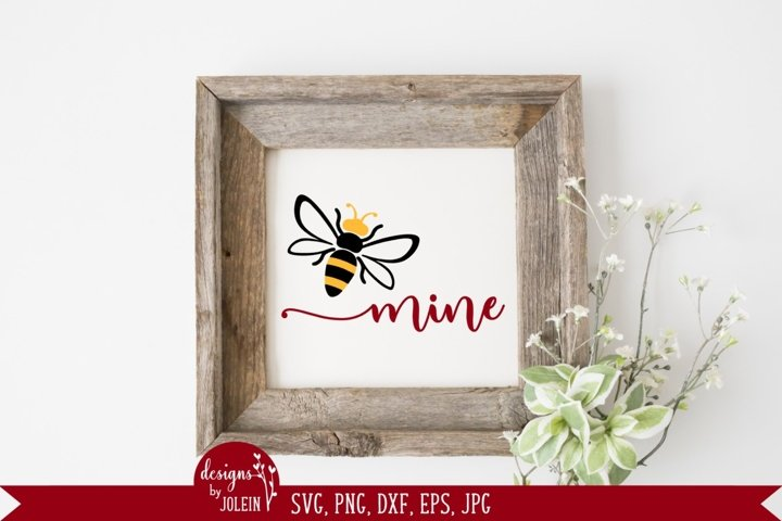 Bee Mine Valentine SVG, PNG, DXF, EPS, Sublimation, Print