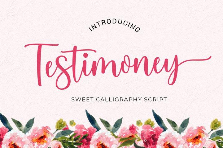 Testimoney modern script