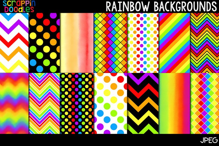 Rainbow Backgrounds - 12 x 12 Backgrounds