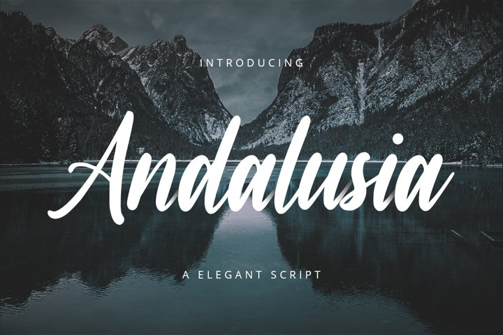 Andalusia // A Elegant Script Font