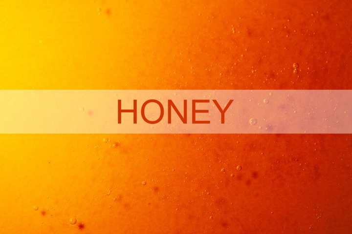 Macro honey background with yellow-red gradient and bubbles