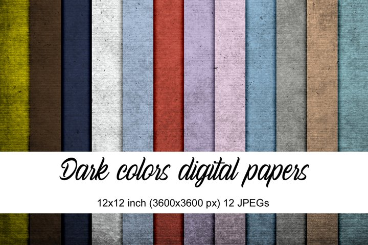 Dark colors digital papers