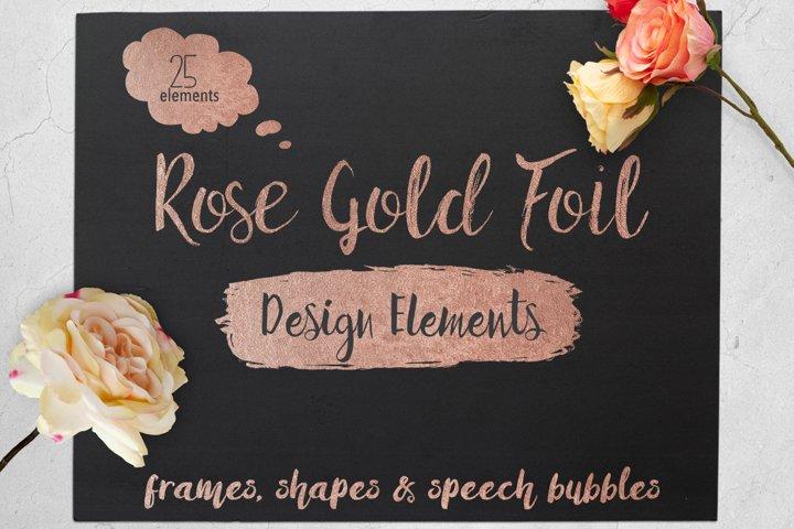 Rose Gold Foil Elements