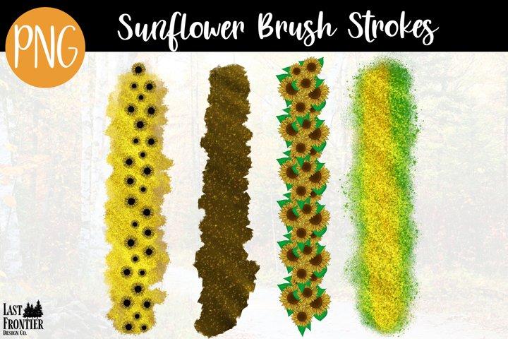 Sunflower brush strokes