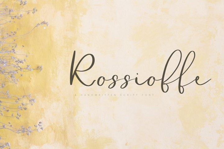 Rossioffe, handwritten script font