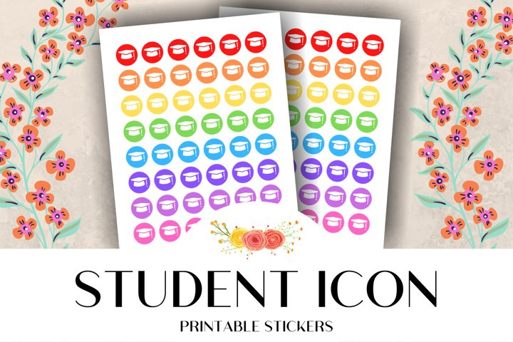 Student Icon Printable Stickers