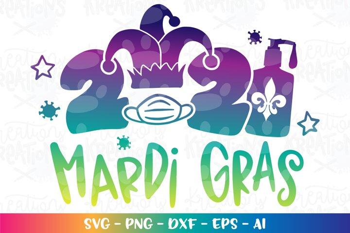 Mardi Gras 2021 svg face mask sanitizer