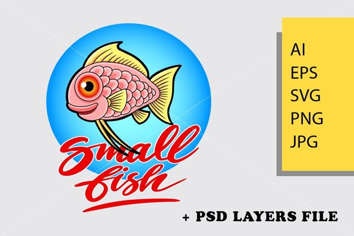 Small Fish logo template
