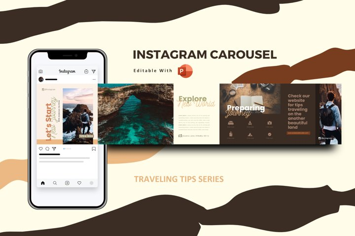 Traveling tips instagram carousel template powerpoint