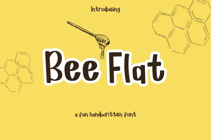 Bee Flat - a handwritten font