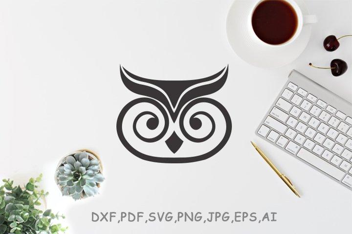 owl Minimalist Vector logo design
