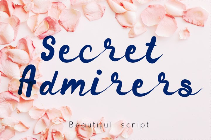 Secret admirer summer script