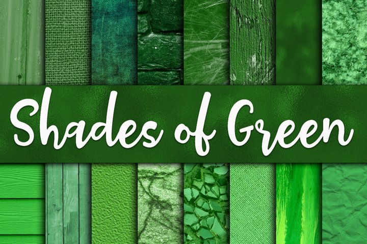 Shades of Green Digital Paper Textures