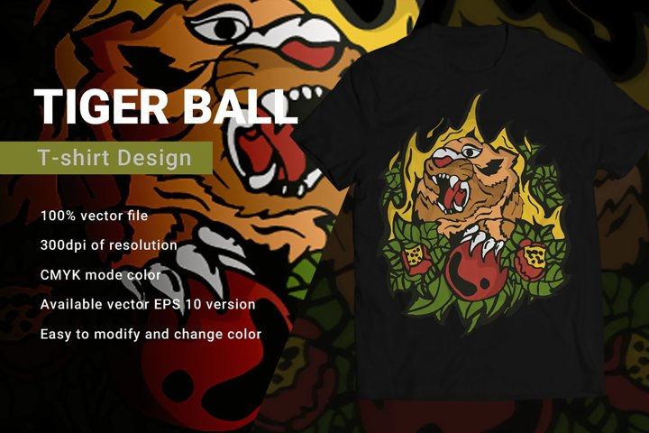 Tiger Ball | T-Shirt Design