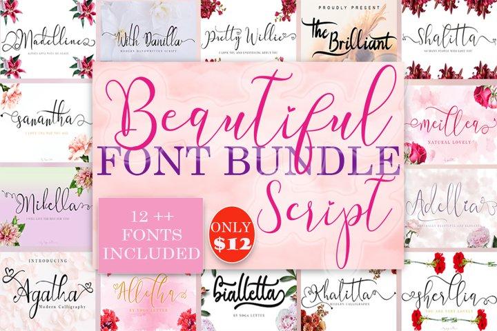 Beautiful Script Font Bundles