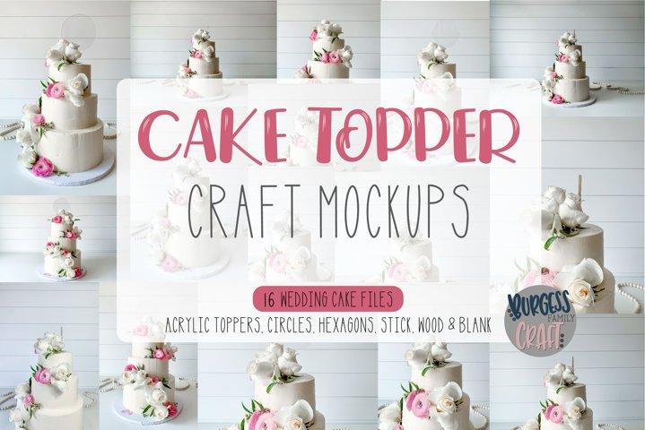 Mockup Cake Toppers | 16 file Bundle