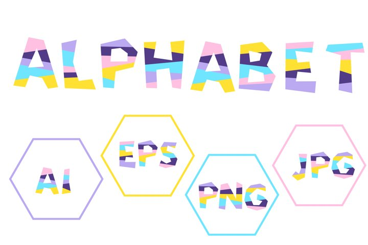 Vector alphabet, A to Z funny letters