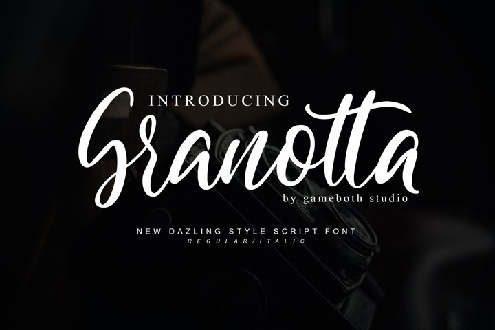 Granotta Dazling Script Font