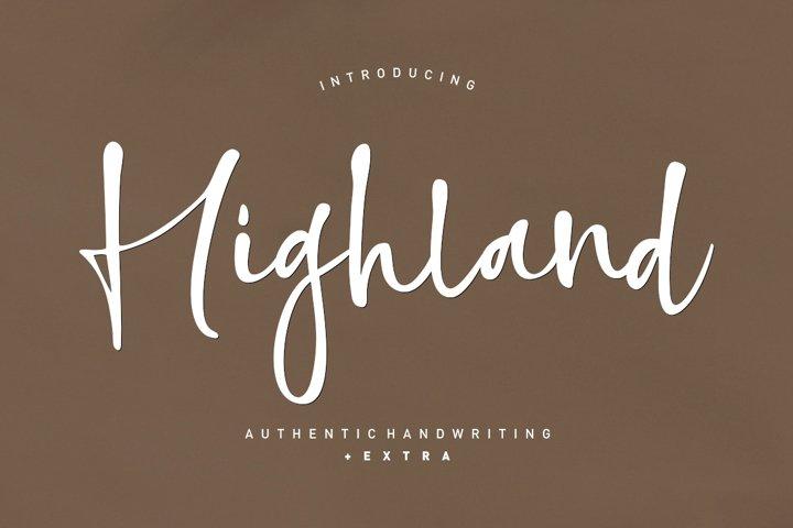 Highland script