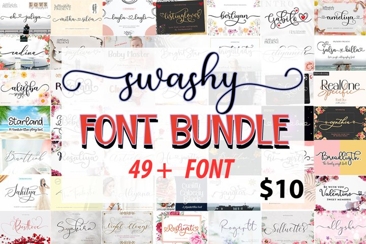 Swashy Font Bundle