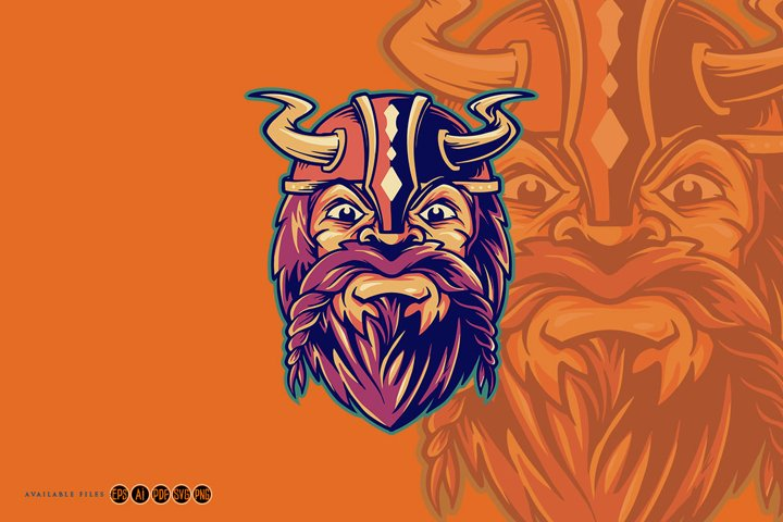 Viking Warrior Cute Mascot Logo Svg Design