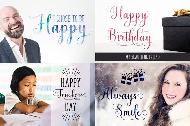 Mistletoe - Font Duo + Bonus - Free Font of The Week Design1