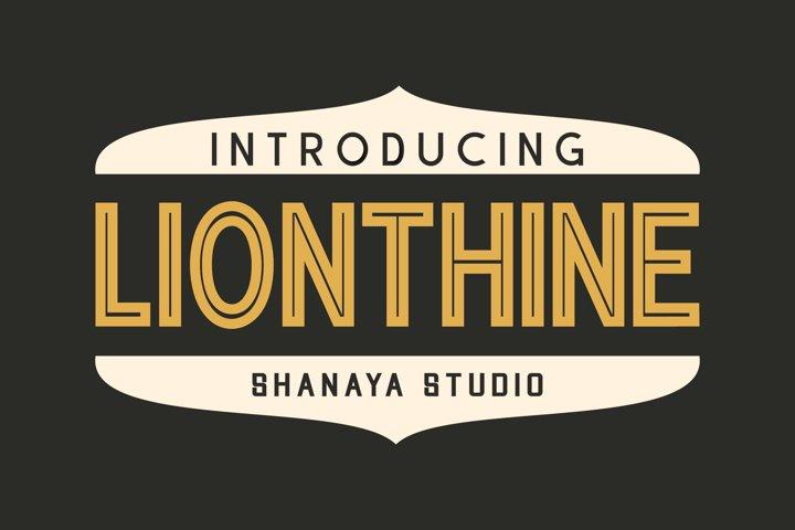 Lionthine l Elegant Typeface