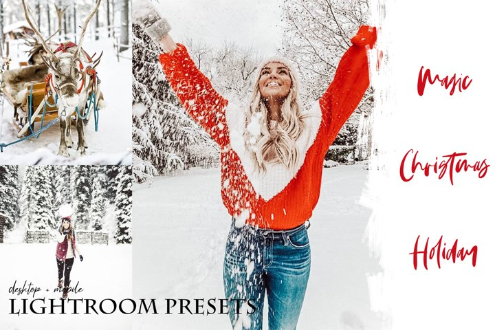 Magic Christmas Holiday Lightroom Presets