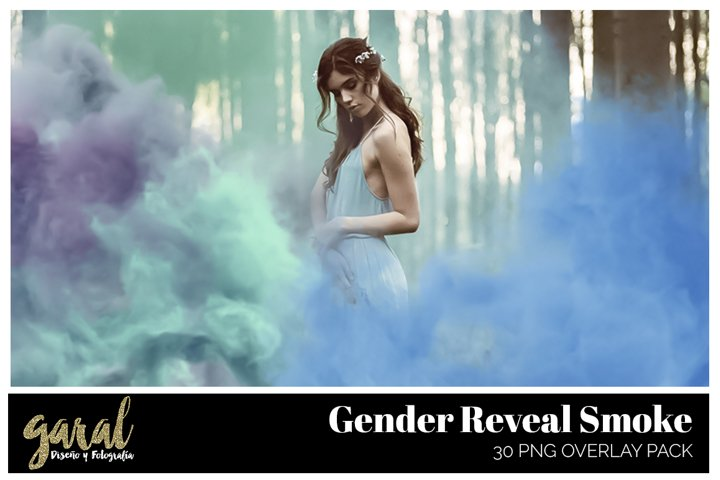 GENDER REVEAL SMOKE. PNG Photoshop Overlays