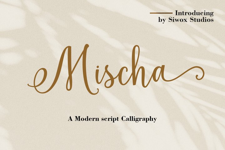 Mischa - A Modern Calligraphy