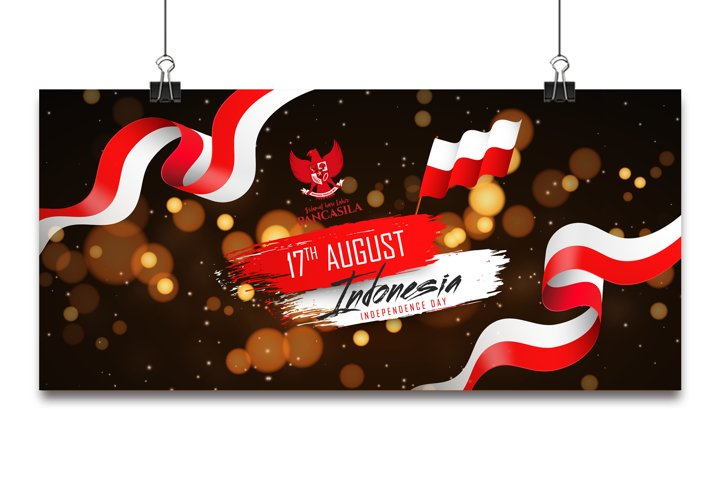 17 August. Indonesia Happy Independence Day background.