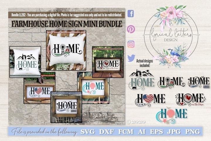 Farmhouse Home SVG Bundle of 6 Cut Files LL262