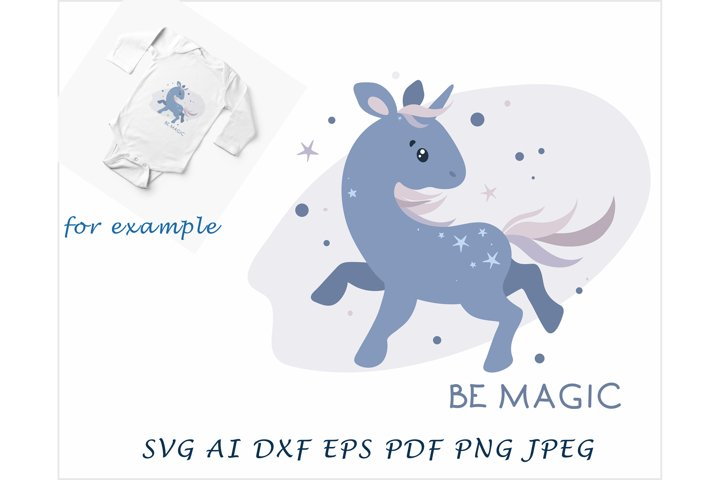 blue unicorn, be magic with the unicorn