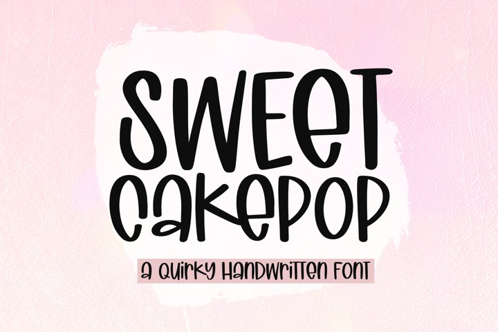Sweet Cakepop - A Quirky Handwritten Font