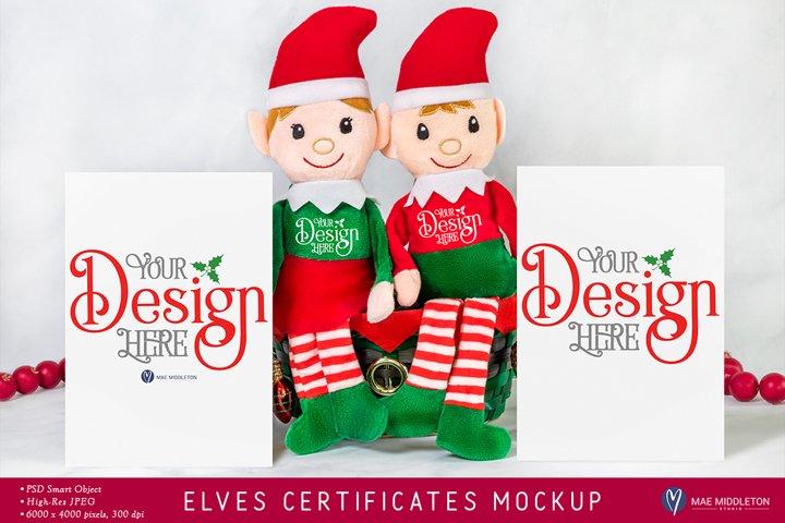 Christmas mockup | Elves and adoption certificates