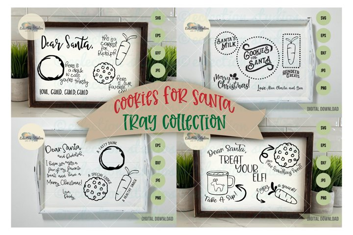 Christmas Cookies for Santa Tray SVG Bundle